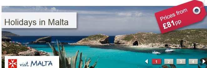 4% off all Malta Bookings