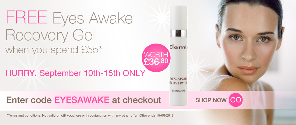 Free full-size Eyes Awake Recovery Gel worth £36.80 when you spend over £55