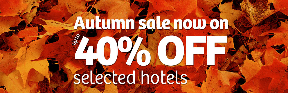 Up to 40% off hotels