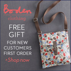 Free gift for all new customers - a lovely Boden bag