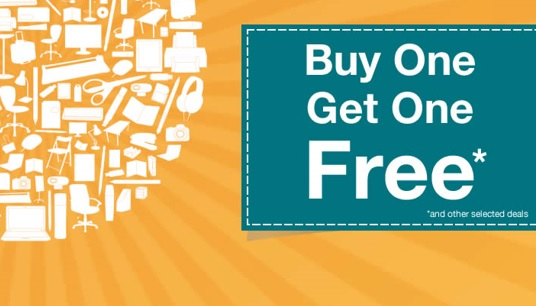 Buy One Get one Free and other selected deals
