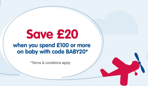 £20 off when you spend £100 on the baby range