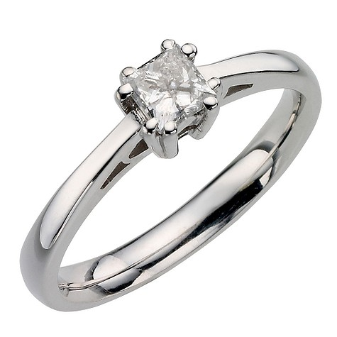 Save 50% on 18ct white gold 39pt diamond solitaire ring