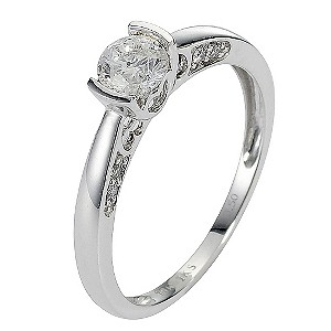 Save £600 on 18ct White Gold Half Carat Diamond Solitaire Ring